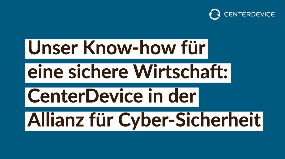 CenterDevice in der Allianz für Cyber-Sicherheit