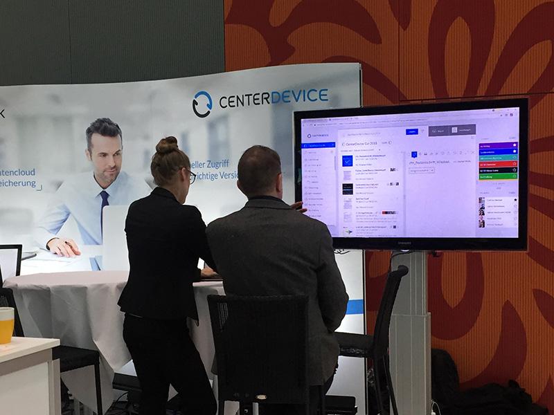 Softwarepräsentation CenterDevice beim Cloud Unternehmertag