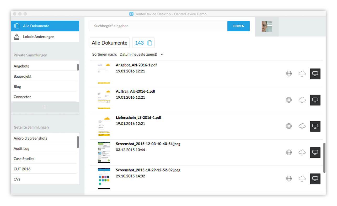 Download – Dateien offline bearbeiten mit CenterDevice Desktop