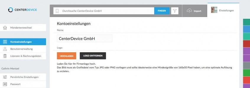CenterDevice_individualisieren_Firmenname