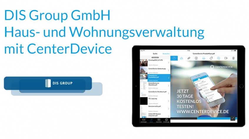 DIS Group GmbH Haus- und Wohnungsverwaltung mit CenterDevice