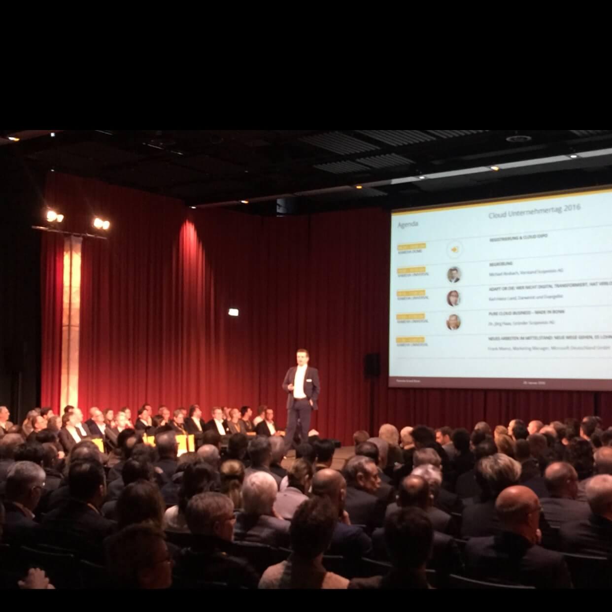 Michael Rosbach, Cloud Unternehmertag 2016, CenterDevice GmbH