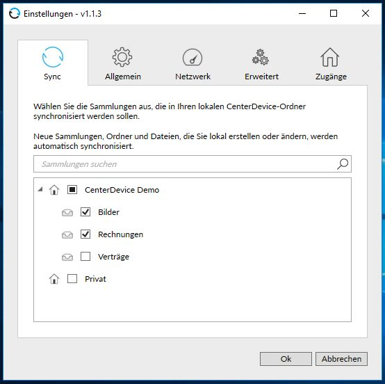 Windows-Client CenterDevice