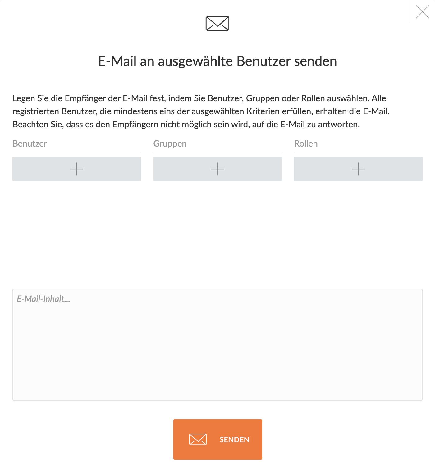 E-Mail an Nutzer senden