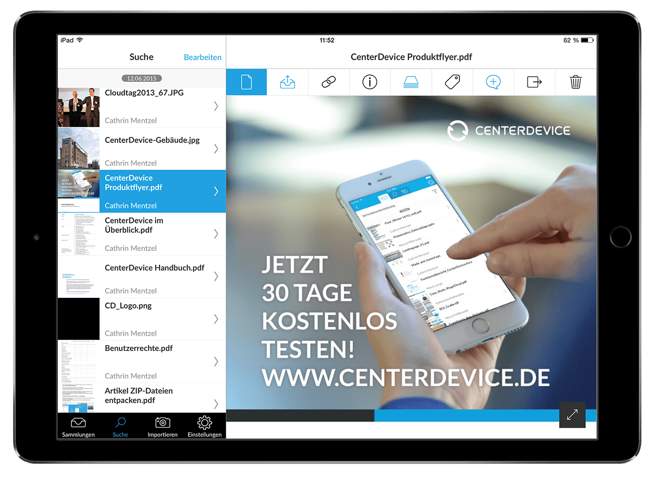 CenterDevice Enterprise Cloud Online Collaboration für Ihr Business