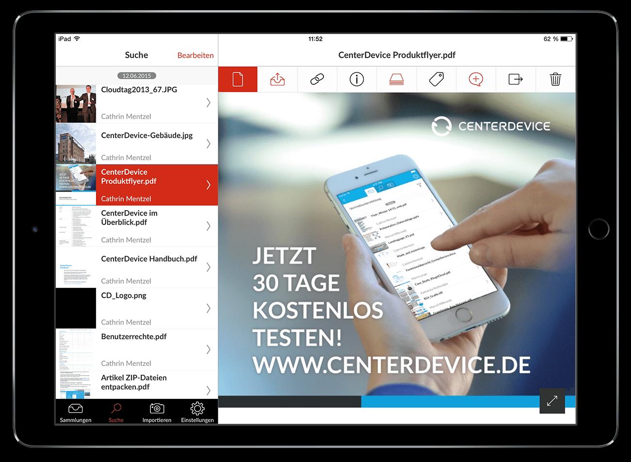 CenterDevice Enterprise Cloud Online Collaboration für Ihr Business